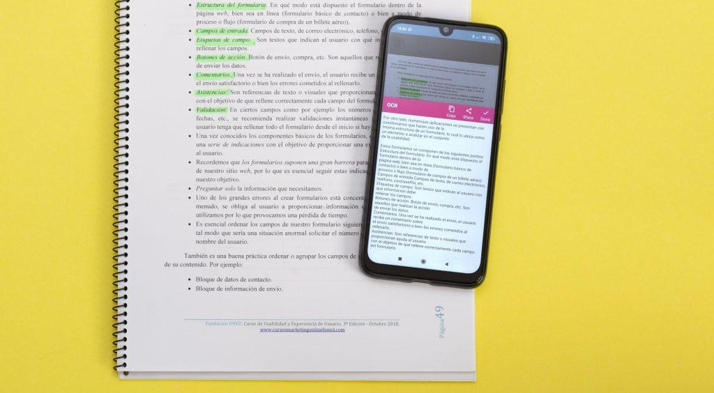 Notebloc, como escanear documentos sin escáner