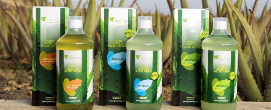 El jugo puro y ecológico de aloe vera