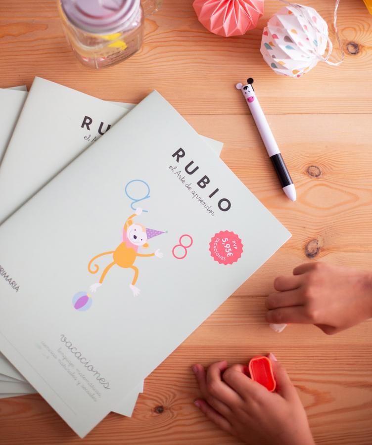 Vacaciones RUBIO, los cuadernos que les ayudarán a reforzar conocimientos para abordar el nuevo curso