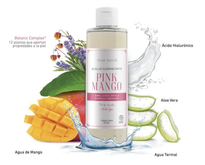 "Agua Micelar Natural de ALMA SECRET ""Pink Mango"""