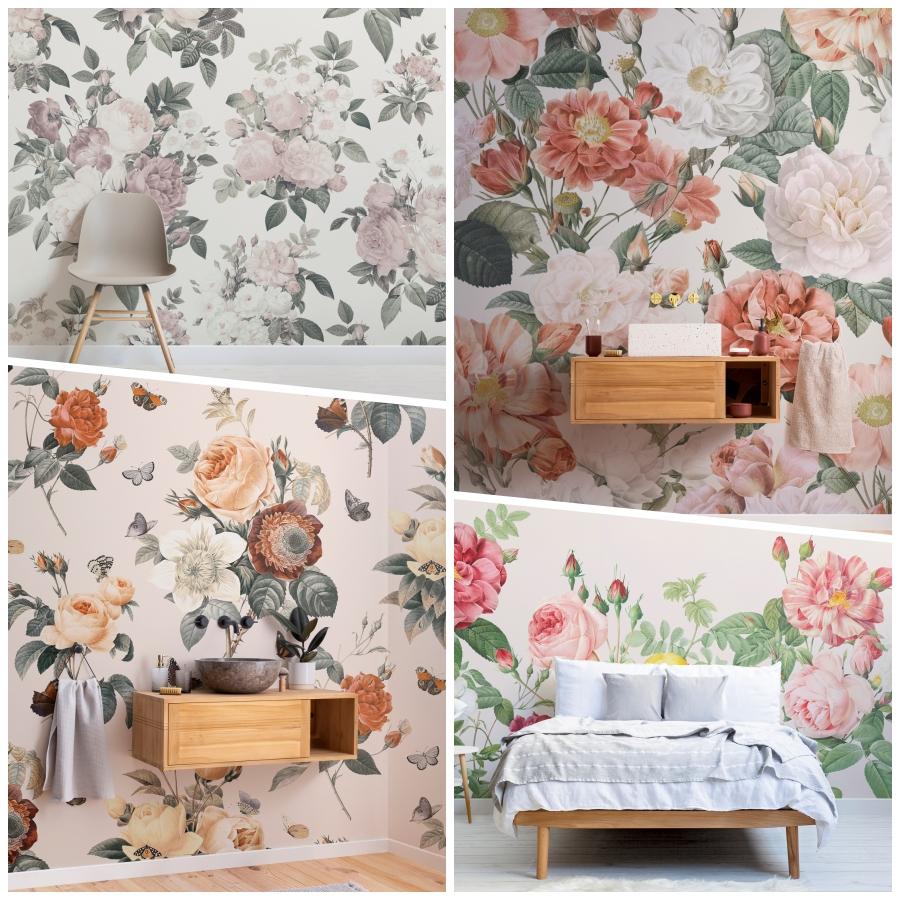 La casa en flor con la colección Vintage Floral de MuralsWallpaper