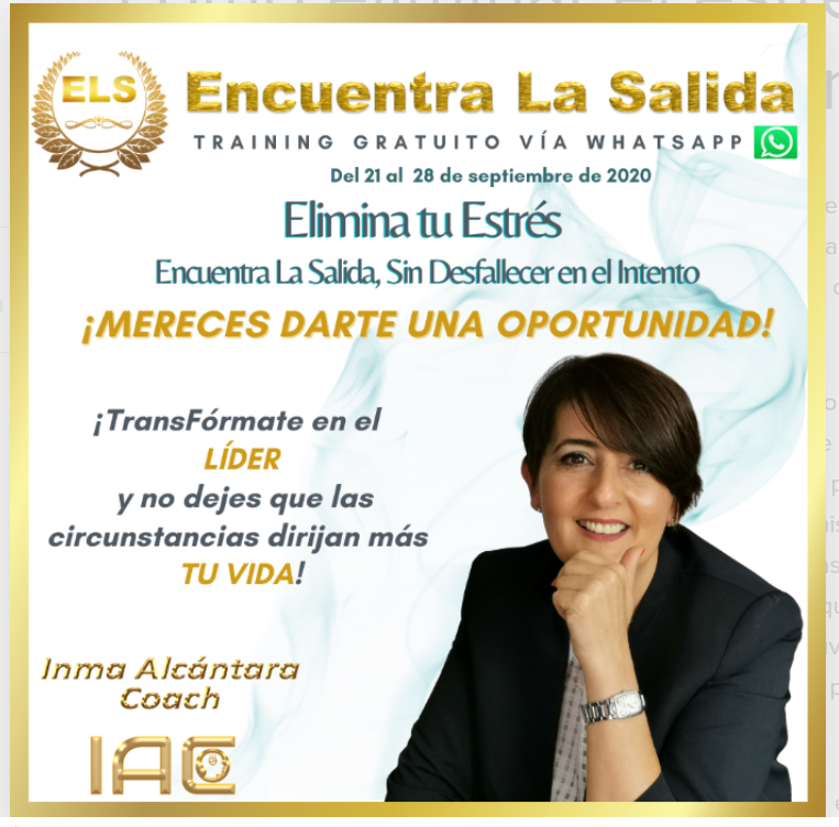 Inma Alcántara, neurocoach, desvela cómo eliminar el estrés sin desfallecer en el intento