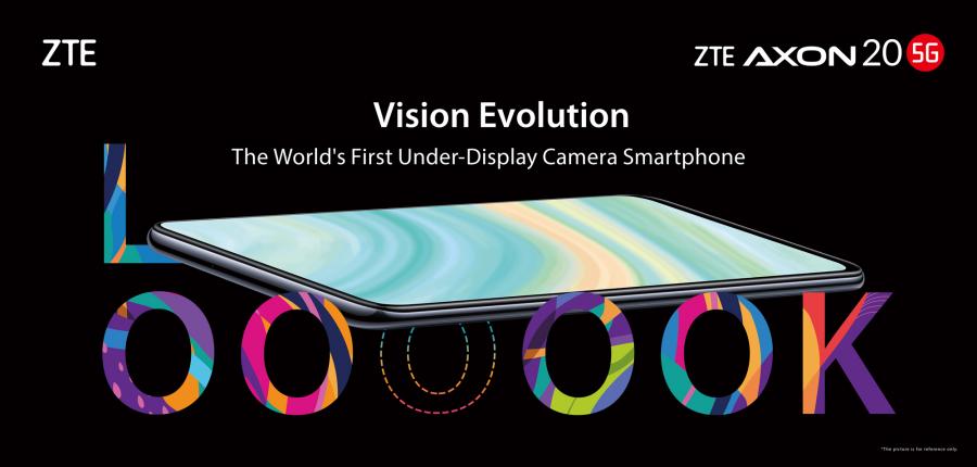 ZTE presenta el AXON 20 5G,primer smartphone del mundo con cámara selfie bajo la pantalla