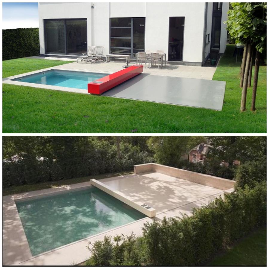 El cobertor automático 4 estaciones de Abrisud te permite diseñar tu propia cubierta de piscina