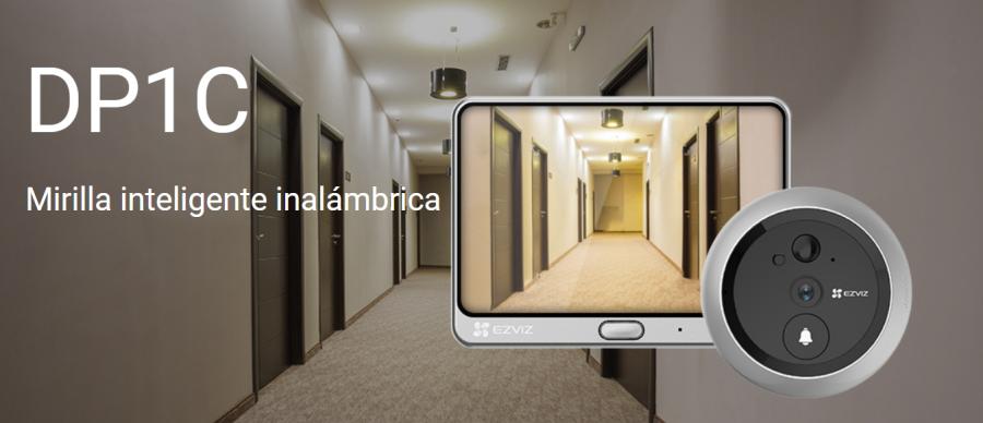Dos en uno: videoportero y mirilla. Ahora, puede ver y hablar fácilmente con los visitantes mediante desde su móvil.