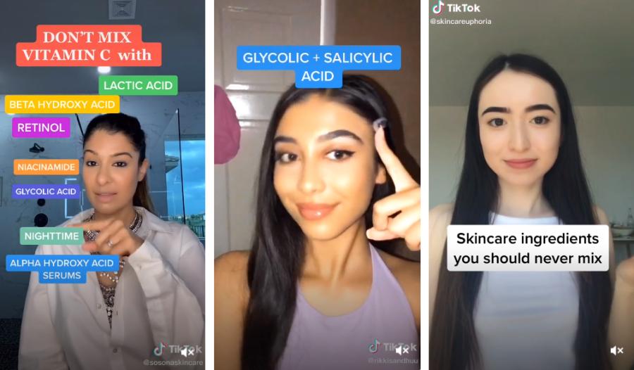 Tips (falsos) sobre cosmética vistos en TikTok, según expertos