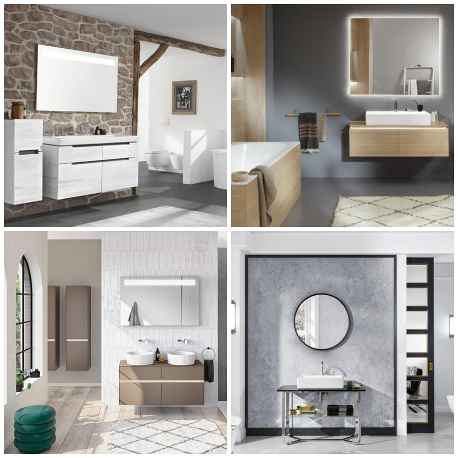 Los espejos que te harán soñar en tu cuarto de baño by Villeroy & Boch.