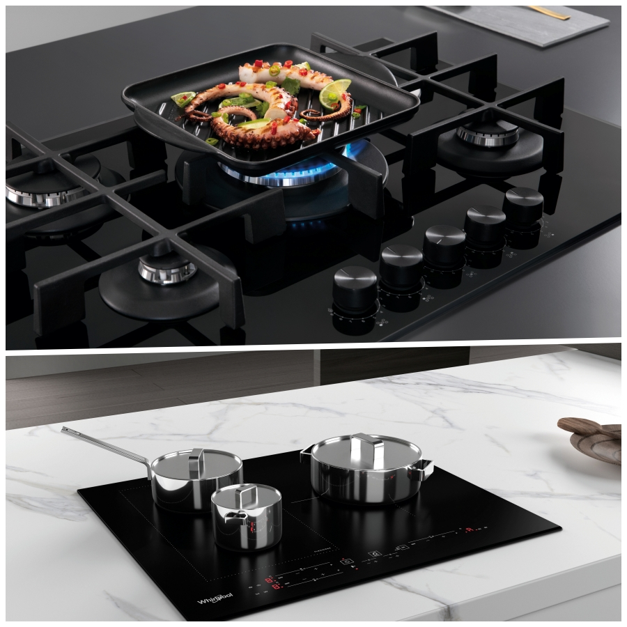 Conseguir el nivel de temperatura perfecto para cada método de cocción es posible con las placas Whirlpool