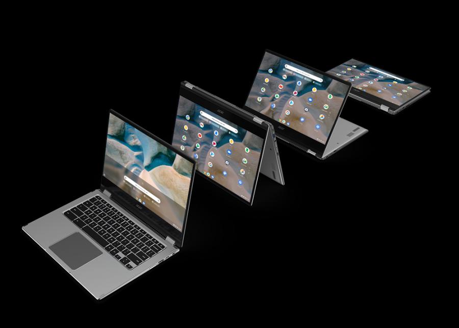 Acer presenta Chromebook Spin 514, su primer Chromebook con procesadores AMD Ryzen y gráficos AMD Radeon
