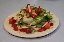 receta: Lechuga trocadero con salmón marinado y remolacha II