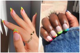 La manicura francesa se vuelve multicolor en 2021