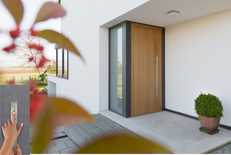 PROCOMSA presenta un nuevo tirador de puerta Ekey, con lector de huella biométrico integrado, para el hogar