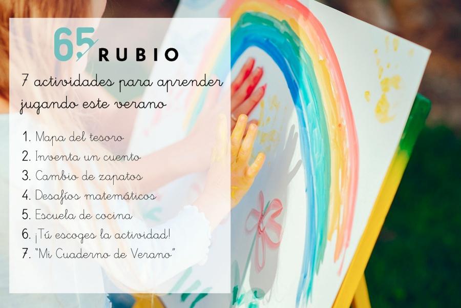 RUBIO te propone 7 actividades para que los peques aprendan jugando este verano