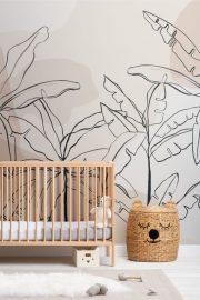El estilo tropical encuentra el minimalista en el nuevo papel pintado de Hovia