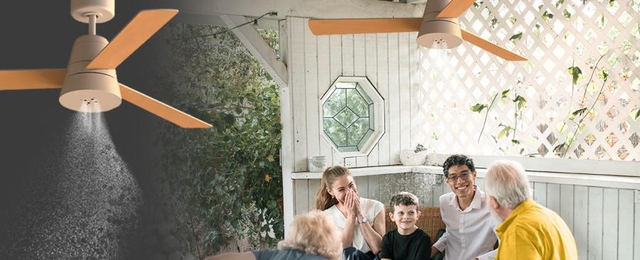 SÛLION refresca el verano con sus nuevos ventiladores de techo con nebulizador incorporado