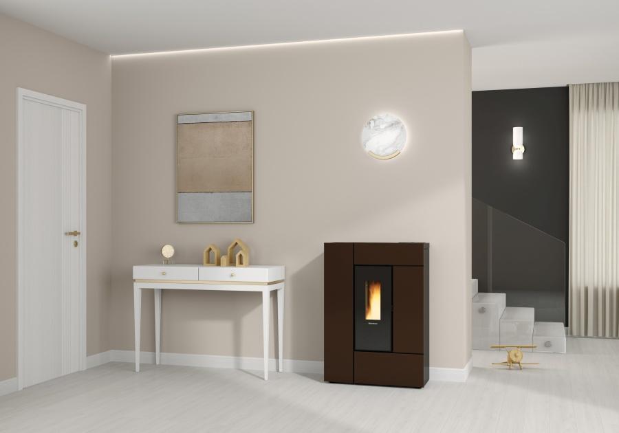 La Nordica Extraflame | Las nuevas estufas de pellet se tiñen de bronce