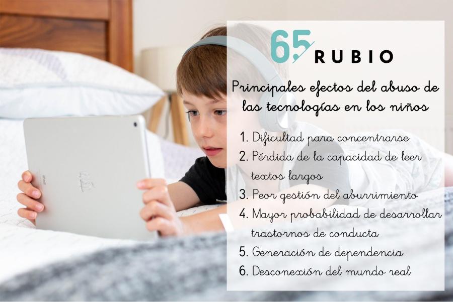 principales efectos del abuso de las tecnologías en los niños