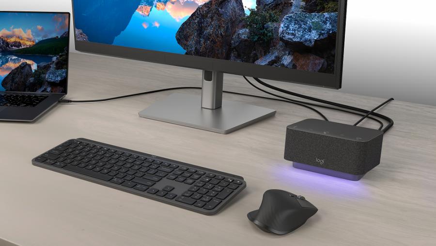 Logitech presenta una dock station todo en uno que mantiene el escritorio ordenado y facilita las reuniones online