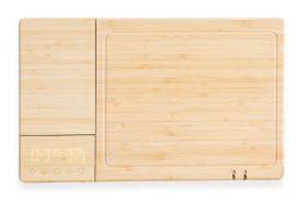 chopbox una tabla de cocinar inteligente y fabricada en bambú completamente reciclado.